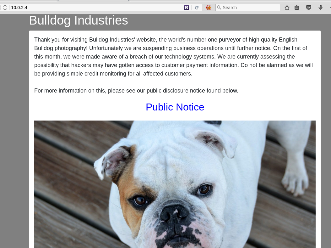 Bulldog homepage